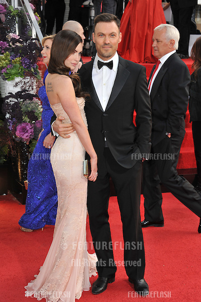 Megan Fox & Brian Austin Green at the 70th Golden Globe Awards at the Beverly Hilton Hotel..January 13, 2013  Beverly Hills, CA.Picture: Paul Smith / Featureflash