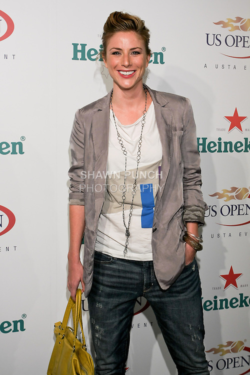 Diane Neal arrives at the US Open Player Party at The Empire Hotel, August 27, 2010.