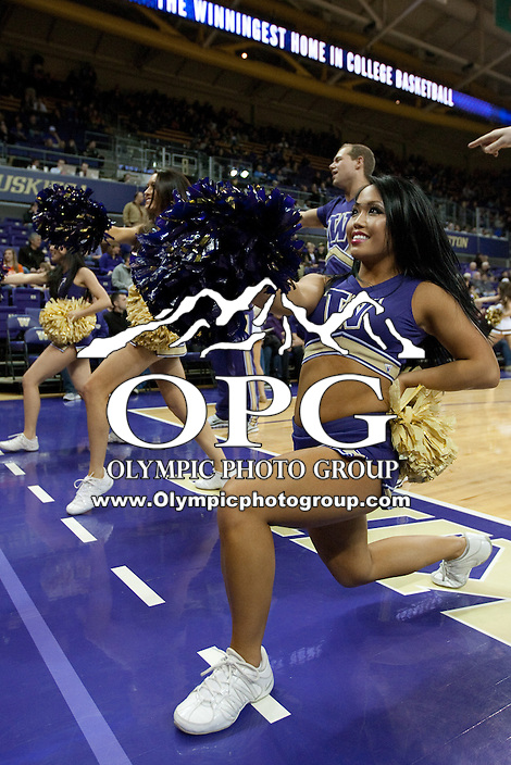 Feb 16, 2013:  Washington cheer leader Karissa Fogel entertained fans during the game against Oregon State. Washington defeated Oregon State 72-62 at Alaska Airlines Arena Seattle, Washington...