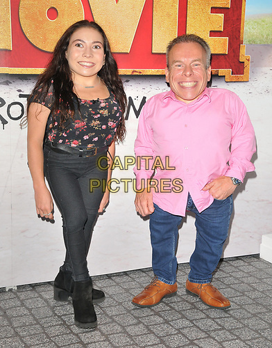 """Annabelle Davis and Warwick Davis at the """"Horrible Histories: The Movie - Rotten Romans"""" world film premiere, Odeon Luxe Leicester Square, Leicester Square, London, England, UK, on Sunday 07th July 2019.<br /> CAP/CAN<br /> ©CAN/Capital Pictures"""