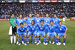 7 June 2007: El Salvador's Starting Eleven. The National Team of El Salvador defeated the National Team of Trinidad & Tobago 2-1 at the Home Depot Center in Carson, California in a first round game in the CONCACAF Gold Cup.