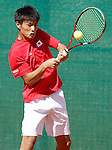 Japan's Toru Horie during Junior Davis Cup 2015 match. September  30, 2015.(ALTERPHOTOS/Acero)