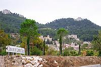 the village seen from domaine de longue toque gigondas rhone france