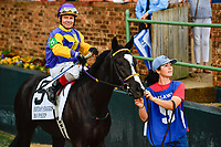 HOT SPRINGS, AR - APRIL 13:  Fantasy Stakes at Oaklawn Park on April 13, 2018 in Hot Springs, Arkansas #5 Bo Peep with jockey Jon Kenton Court . (Photo by Ted McClenning/Eclipse Sportswire/Getty Images)