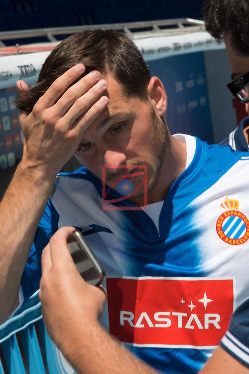 League BBVA 2016/2017.<br /> Pablo Piatti presented as new player of RCD Espanyol.