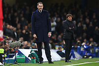 Swansea City manager Paul Clement during the Premier League match between Chelsea and Swansea City at Stamford Bridge, London, England, UK. Wednesday 29 November 2017