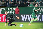 12.03.2018, Weser Stadion, Bremen, GER, 1.FBL, Werder Bremen vs 1.FC Koeln, im Bild<br /> <br /> 2 zu 1 Milot Rashica (Werder Bremen #11)<br /> gegen Timo Horn (Koeln #01)<br /> <br /> Foto &copy; nordphoto / Kokenge