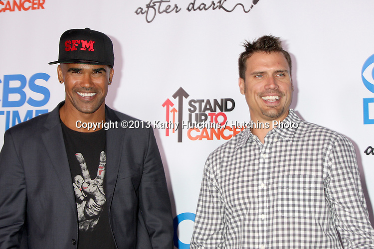 LOS ANGELES - OCT 8:  Shemar Moore, Joshua Morrow at the CBS Daytime After Dark Event at Comedy Store on October 8, 2013 in West Hollywood, CA