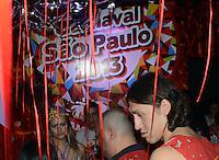 SAO PAULO, SP, 09 FEVEREIRO 2013 - CARNAVAL SP - CAMAROTE BAR BRAHMA - O JOGADOR CASSIO    no Camarote Brahma durante o primeiro dia de desfiles do Grupo Especial no Sambódromo do Anhembi na região norte da capital paulista, nesta sexta-feira, 08. (FOTO: ALAN MORICI / BRAZIL PHOTO PRESS).