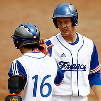 21 June 2011: Gregory Cros of Team France is seen during UCLA Alumni 5-3 win over France, at the 2011 Prague Baseball Week, in Prague, Czech Republic.