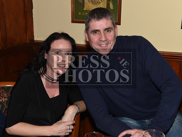 Patrick and Pamela Callan at the special night for the late Francie and Angela Taaffe in Connor's pub Dunleer. Photo:Colin Bell/pressphotos.ie