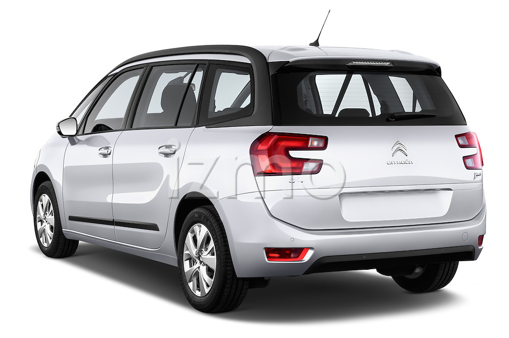 Rear three quarter view of a 2013 Citroen GRAND C4 PICASSO Intensive 5 Door Minivan 2WD