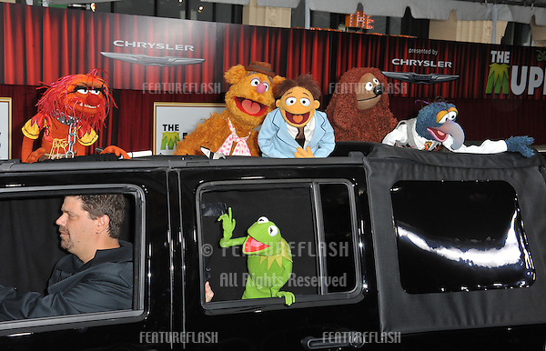 "Kermit the Frog & The Muppets at the world premiere of ""The Muppets"" at the El Capitan Theatre, Hollywood..November 12, 2011  Los Angeles, CA.Picture: Paul Smith / Featureflash"