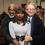 "BeBe Winans, Loren Lott and William Ivey Long backstage after a Song preview performance of the Bebe Winans Broadway Bound Musical ""Born For This"" at Feinstein's 54 Below on November 5, 2018 in New York City."
