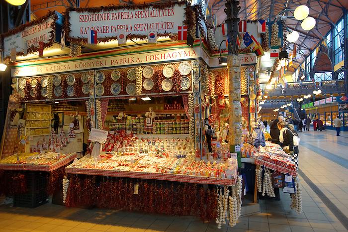 K?zponti Vásárcsarnok. Central Budapest Market - Hungary