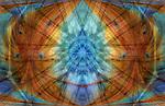 Gemstone Meditation Mandala and Spiritual Shield - #1 - digital art