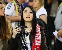 Asiatischer Fan der Deutschen Nationalmannschaft - 04.09.2017: Deutschland vs. Norwegen, Mercedes Benz Arena Stuttgart