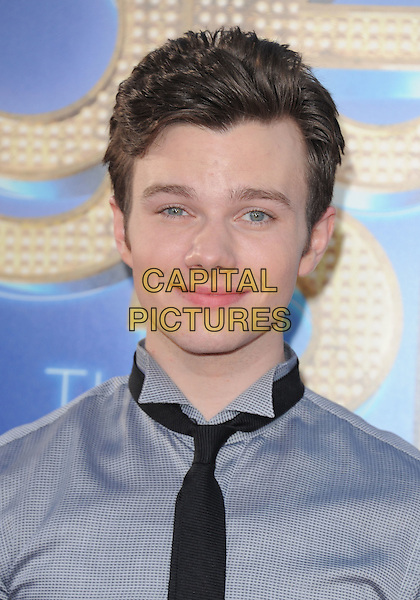 Chris Colfer.attends The 20th Century Fox 'Glee 3D' Concert World Movie Premiere held at The Regency Village theatre in Westwood, California, USA, .August 6th 2011..portrait headshot grey gray shirt black tie .CAP/RKE/DVS.©DVS/RockinExposures/Capital Pictures.