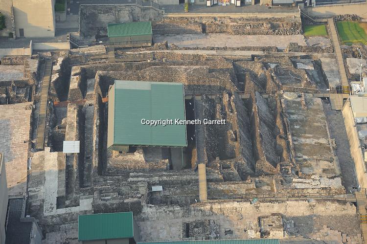 mm7677, Greatest Aztecs, Aerials, Templo Mayor, Mexico City, Centro Historico