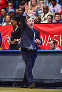 Washington, DC - August 31, 2018: Washington Mystics head coach Mike Thibault on the sideline during semi finals playoff game between Atlanta Dream and Wasington Mystics at the Charles Smith Center at George Washington University in Washington, DC. (Photo by Phil Peters/Media Images International)
