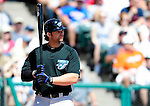 13 March 2010: Toronto Blue Jays' infielder Brian Dopirak at bat during a Spring Training game against the Atlanta Braves at Champion Stadium in the ESPN Wide World of Sports Complex in Orlando, Florida. The Blue Jays shut out the Braves 3-0 in Grapefruit League action. Mandatory Credit: Ed Wolfstein Photo
