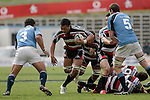 Taiasina Tuifua lines up Stan WrightAir NZ Cup week 4 game between the Counties Manukau Steelers and Northland played at Mt Smart Stadium on the 19th of August 2006. Northland won 21 - 17.
