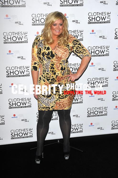 Gemma Collins  at the Clothes Show Live at the NEC Birmingham