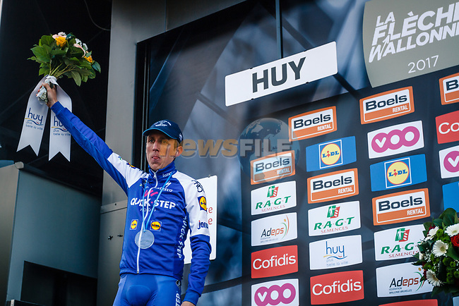 Daniel Martin (IRL) Quick-Step Floors finishes in 2nd place at the end of La Fleche Wallonne 2017, Huy, Belgium. 19th April 2017. Photo by Thomas van Bracht / PelotonPhotos.com