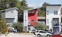 NWA Democrat-Gazette/DAVID GOTTSCHALK  Three story residential buildings on Church Avenue near the intersection of Martin Luther King Boulevard  in Fayetteville Wednesday, September 2, 2015.