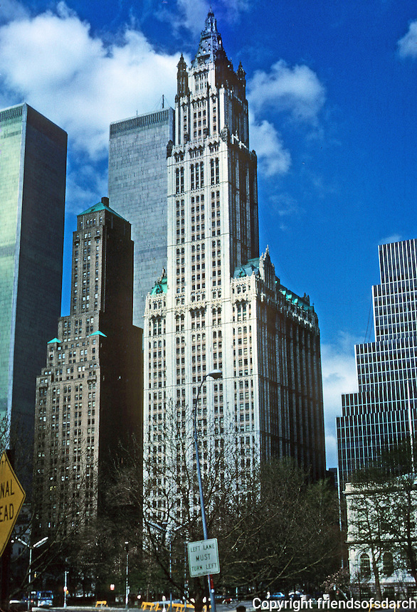 New York: Woolworth Building. Cass Gilbert, Architect. Photo '78.