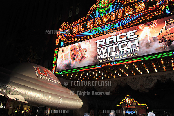 "El Capitan Theatre at the world premiere of ""Race to Witch Mountain"" at the El Capitan Theatre, Hollywood..March 11, 2009  Los Angeles, CA.Picture: Paul Smith / Featureflash"