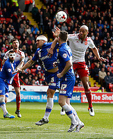 Sheffield United v Gillingham .Sky Bet League 1 ....... uniteds alex baptiste challenges for the ball