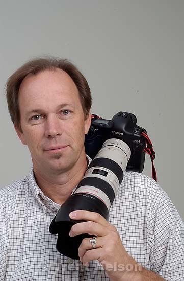 Tribune photographer Rick Egan before he leaves for Iraq<br />