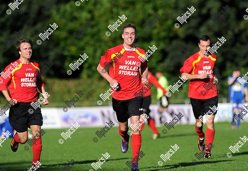 2012-10-07 / Voetbal / seizoen 2012-2013 / KV Turnhout - Kapellen / Ban Van Den Brandt scoorde de 1-2 voor Kapellen..Foto: Mpics.be