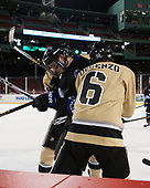 Tyler Deresky (Bentley - 11), Nick DeCenzo (Army - 6) - The Bentley University Falcons defeated the Army West Point Black Knights 3-1 (EN) on Thursday, January 5, 2017, at Fenway Park in Boston, Massachusetts.The Bentley University Falcons defeated the Army West Point Black Knights 3-1 (EN) on Thursday, January 5, 2017, at Fenway Park in Boston, Massachusetts.