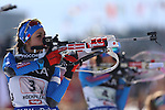 09/02/2017, Hochfilzen - IBU World Championships Biathlon 2017 Hochfilzen.<br /> Mixed Relay race in Hochfilzen, Austria on February 9, 2017. Germany's team with Vanessa Hinz, Laura Dahlmeier, Arnd Peiffer, Simon Schempp wins ahead of France's Anais Chevalier, Marie Dorin Habert, Quentin Fillon Maillet, Martin Fourcade and third is Russia with Olga Podchufarova, Tatiana Akimova, Alexander Loginov and Anton Shipulin. Lisa Vittozzi