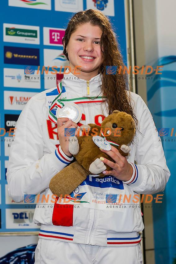 Kameneva Mariia RUS<br /> 50 Backstroke Women Final Bronze Medal<br /> LEN 43rd Arena European Junior Swimming Championships<br /> Hodmezovasarhely, Hungary <br /> Day03 08-07-2016<br /> Photo Andrea Masini/Deepbluemedia/Insidefoto