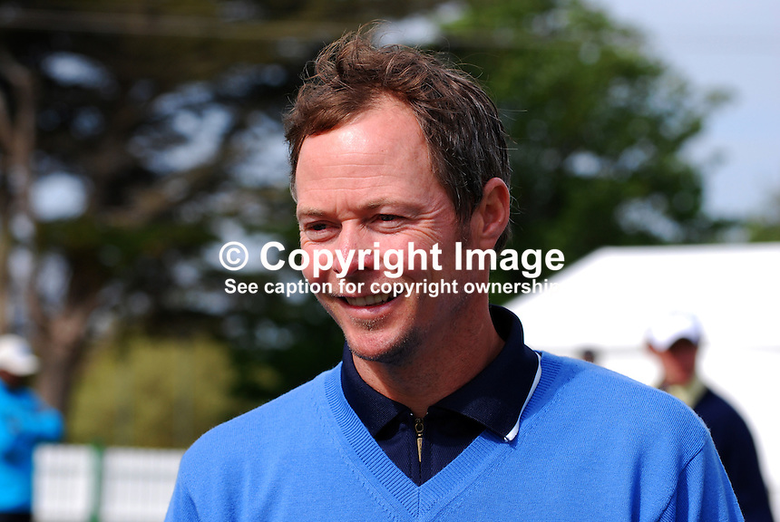 David Carter, professional golfer, England, UK, 200905132378..Taken at the Irish Open Pro-Am Day, Wednesday 13 May 2009, at Baltray. Like most  participants he was dressed for warmth because of the chill easterly breeze coming off the Irish Sea. ..Copyright Image from Victor Patterson, 54 Dorchester Park, Belfast, UK, BT9 6RJ..Tel: +44 28 9066 1296.Mob: +44 7802 353836.Voicemail +44 20 8816 7153.Skype: victorpattersonbelfast.Email: victorpatterson@mac.com.Email: victorpatterson@ireland.com (back-up)..IMPORTANT: If you wish to use this image or any other of my images please go to www.victorpatterson.com and click on the Terms & Conditions. Then contact me by email or phone with the reference number(s) of the image(s) concerned.