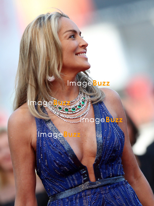 """Sharon Stone attends the """" Behind The Candelabra' """" premiere during The 66th Annual Cannes Film Festival at The 60th Anniversary Theatre on May 21, 2013 in Cannes, France."""