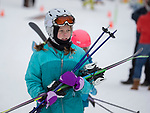 Kids learning to ski on opening day at Sky Tavern Ski Resort, Saturday, March 10, 2018.