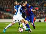 25th September 2018, Camp Nou, Barcelona, Spain; Copa del Rey football, quarter final, second leg, Barcelona versus Espanyol; Leo Messi scape from David Lopez