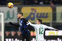 Mauro Icardi-Stefano Sensi<br /> Milano 19-1-2019 Giuseppe Meazza stadium Football Serie A 2018/2019 Inter - Sassuolo <br /> Foto Image Sport / Insidefoto