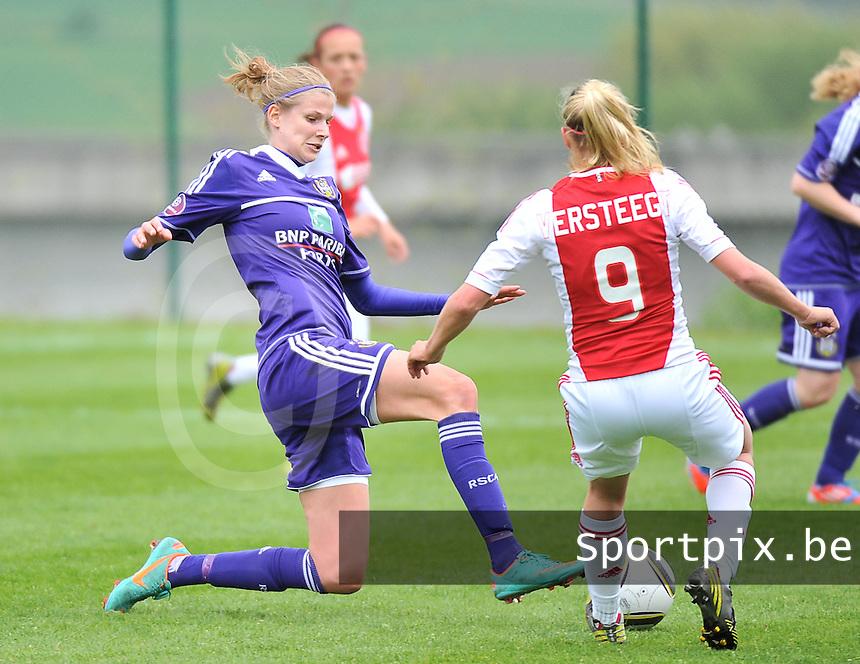 RSC Anderlecht Dames - Ajax Amsterdam : Justine Vanhaevermaet.foto DAVID CATRY / Nikonpro.be