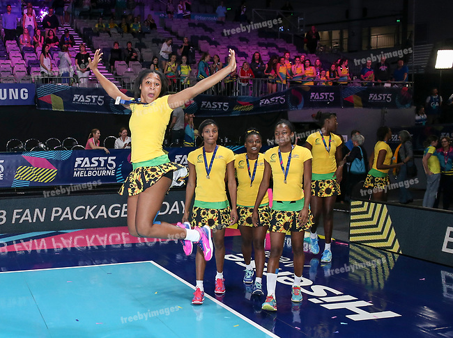 29/10/17 Fast5 2017<br /> Fast 5 Netball World Series<br /> Hisense Arena Melbourne<br /> Grand Final Jamaica v England<br /> <br /> Adean Thomas<br /> <br /> <br /> <br /> <br /> Photo: Grant Treeby