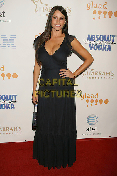 SOFIA VERGARA .19th Annual Glaad Media Awards held at the Kodak Theatre, Hollywood, California, USA, 26 April 2008..full length black dress hand on hip.CAP/ADM/RE.©Russ Elliot/Admedia/Capital PIctures