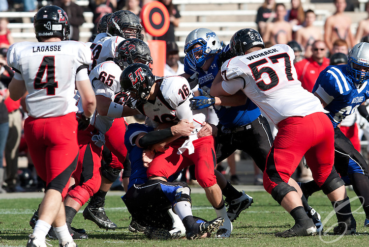 Friendswood Mustangs lost to the Lake Travis Cavilers 24 - 3 at Kyle Field on December 11, 2010 in the Class 4A, D-1 state semifinals.