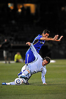 Kosuke Kimura (on ground), Davy Arnaud...Kansas City Wizards defeated Colorado Rapids 1-0 at Community America Ballpark, Kansas City, Kansas.