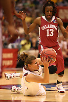 SAN ANTONIO, TX - APRIL 4:  Jeanette Pohlen of the Stanford Cardinal during Stanford's 73-66 win over Oklahoma in the Final Four semi-finals at the Alamo Dome on April 4, 2010 in San Antonio, Texas.