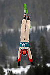 16 January 2009:  Sabrina Guerin from Canada performs aerial acrobatics during the FIS Freestyle World Cup warm-ups at the Olympic Ski Jumping Facility in Lake Placid, NY, USA. Mandatory Photo Credit: Ed Wolfstein Photo. Contact: Ed Wolfstein, Burlington, Vermont, USA. Telephone 802-864-8334. e-mail: ed@wolfstein.net