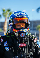 Oct 28, 2017; Las Vegas, NV, USA; NHRA funny car driver John Force during qualifying for the Toyota National at The Strip at Las Vegas Motor Speedway. Mandatory Credit: Mark J. Rebilas-USA TODAY Sports
